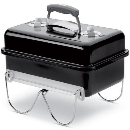De Weber Go-Anywhere barbecue is een ideale barbecue voor als je onderweg bent. Het is een draagbaar ontwerp met handige beugels die als poten en klem voor de deksel dienen. >> http://www.kampeerwereld.nl/weber-go-anywhere-briketten-houtskool/