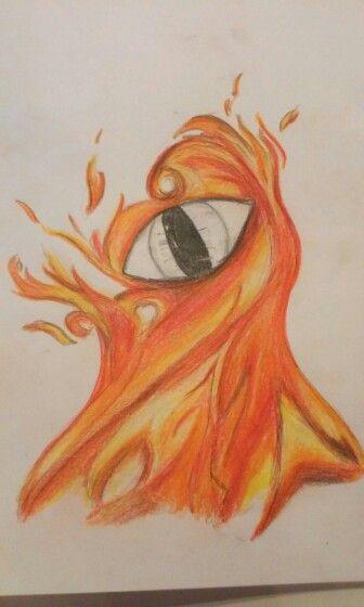 #Eye  #fire #art #colors  PR