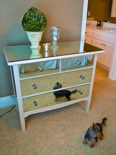 DIY Mirrored Furniture On Pinterest Mirrored Furniture