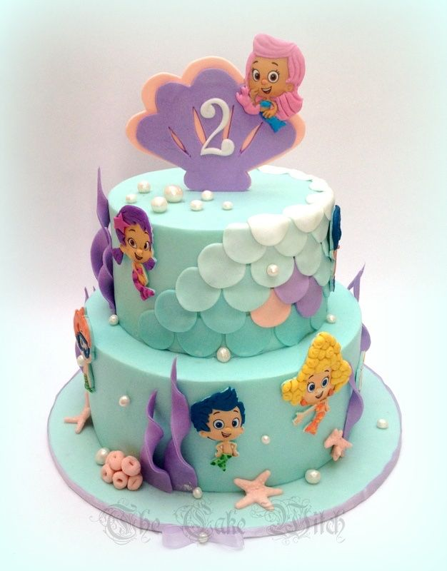 Bubble guppies girly cake