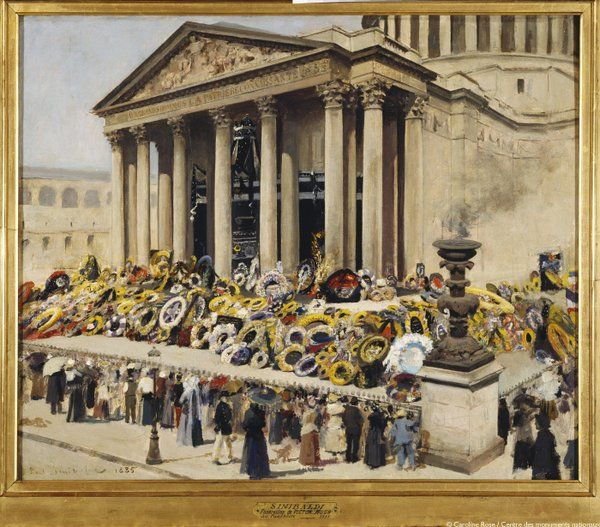 Paris: Le 1er juin 1885, quelques jours après sa mort, Victor Hugo entre au #Panthéon.