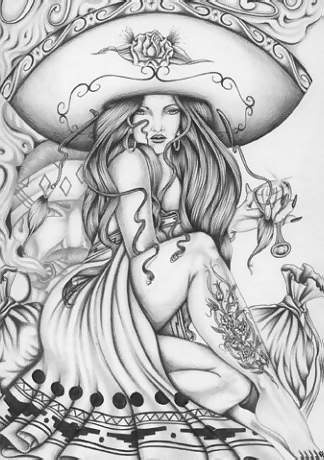 Sexy naked mexicanas drawings