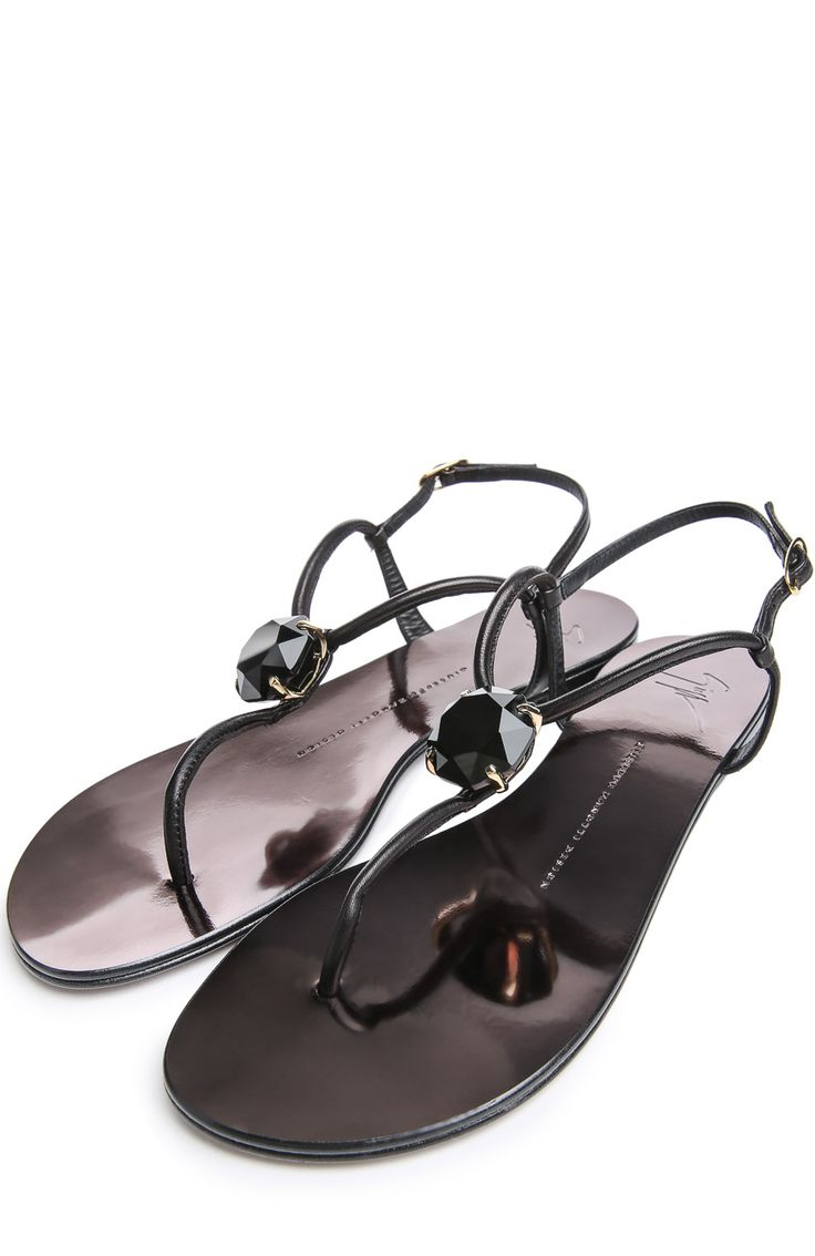 Женские черные сандалии Giuseppe Zanotti Design, арт. E50014005/GZ010 купить в ЦУМ   Фото №2