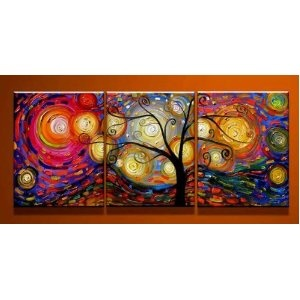 #10: Special Life - ytg0029 - Modern Abstract Oil Painting on Canvas Stretched Framed with Wooden Frame - Return shipping covered for continental US regions
