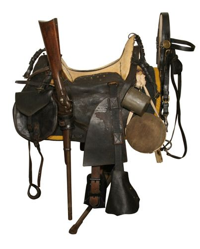 Pattern 1859 McClellan saddle with field equipment