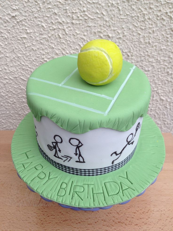 Tennis Themed Birthday Cake My Cakes Birthday Cake
