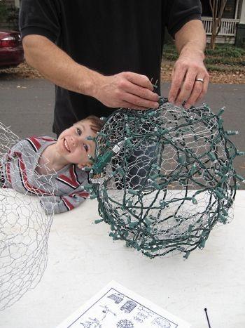 How to make those big light balls for the garden!