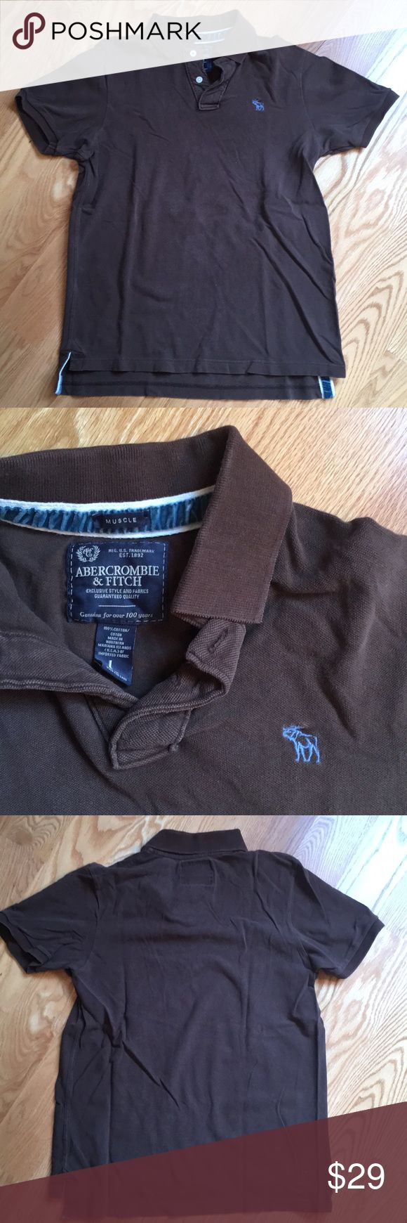 Abercrombie men's polo short sleeve Brown color, in great condition. 100% cotton Abercrombie & Fitch Shirts Polos
