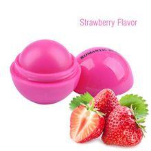1x Anti-cracking Esfera Lip Balm Hidratante Natural Creme Labial Lip Care Lip Rosa Vermelha alishoppbrasil