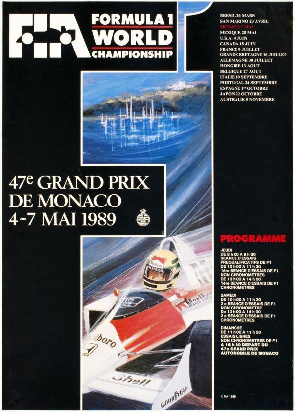 1989 Monaco Grand Prix poster