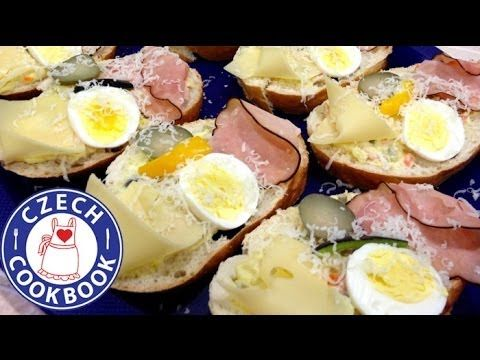 Fancy Sandwiches Recipe - Chlebíčky - Czech Cookbook - Video Recipes in English - US Measurements - US Ingredients