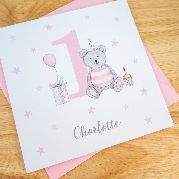 Personalised 1st Birthday Card Girls First Birthday Card Etsy In 2021 1st Birthday Cards First Birthday Cards Birthday Cards