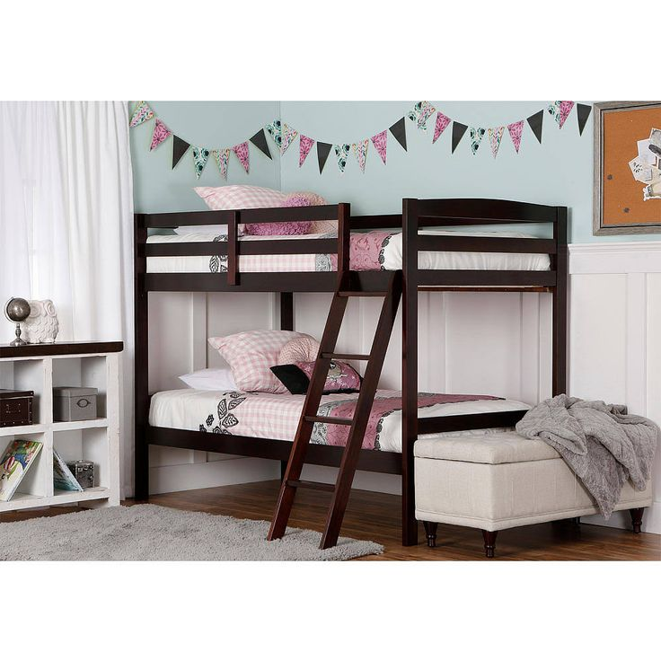 Dream on Me Taylor 2-in-1 Twin Over Twin Bunk Bed - Espresso