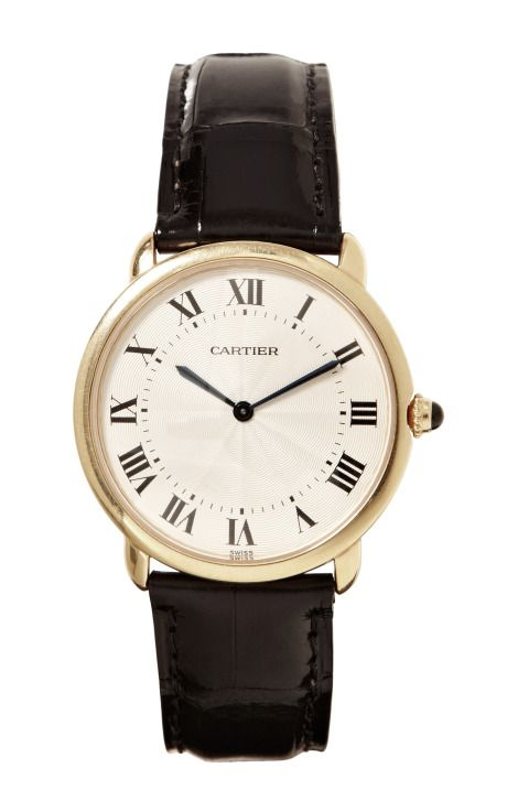 Cartier 18K Yellow Gold Ronde Louis Cartier Watch From Beladora by Beladora - Moda Operandi