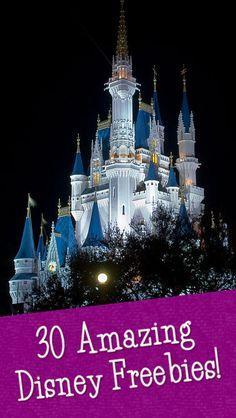30+ Amazing DisneyFreebies - #disney #freebies