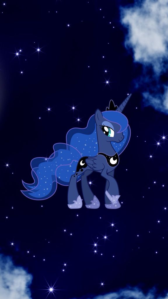 MLP. Princess Luna Wallpaper. Night Sky. Galaxy. Fan Art. Uploaded by SUNSET…