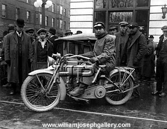 Harley Davidson Motorcycle Broadway 1915 Portland Oregon USA