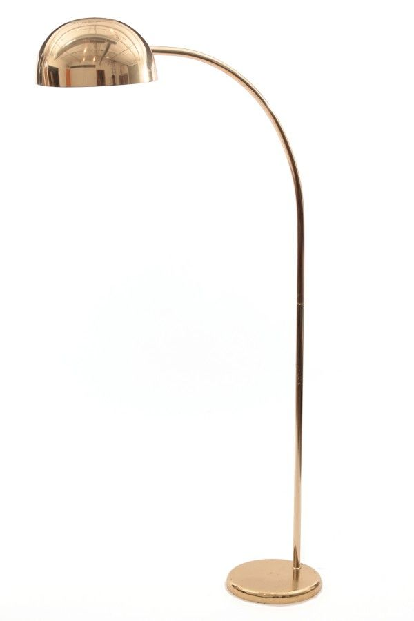Pair Of Brass Italian Arc Floor Lamps Mood Lighting