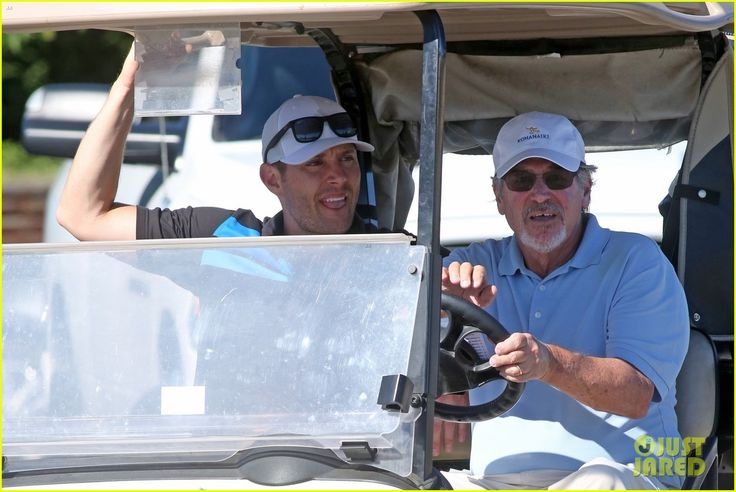 Jared Padalecki & Jensen Ackles Meet Up for a Round of Golf!