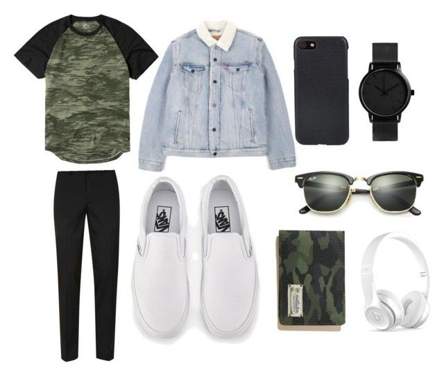 """Trouble"" by ricardo-rodriguez-hernandez on Polyvore featuring Hollister Co., Topman, Vans, Shinola, Ray-Ban, Levi's, Beats by Dr. Dre, men's fashion y menswear"