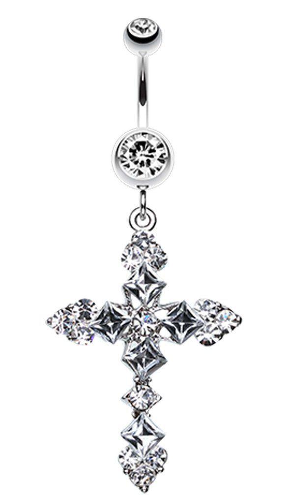 Princess Cut Cross Sparkle Bauchnabel Ring – Schmuck – #Bauchnabel #Cross #Cut …   – Piercing Ideen