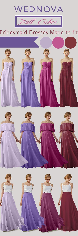 Fall chiffon bridesmaid dress mix your m…