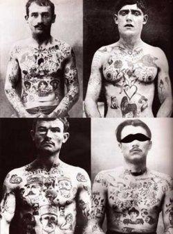 Vintage tattooed gentlemen.