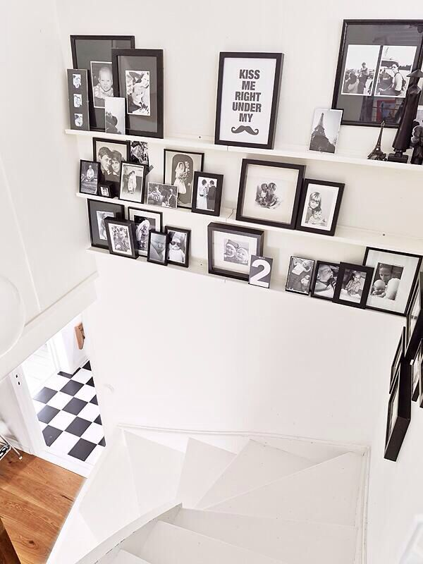IKEA photo ledge idea. Are you looking for unique and beautiful art photo prints (not the ones featured in this pin) to create your gallery walls? Visit bx3foto.etsy.com and follow us on IG @bx3foto