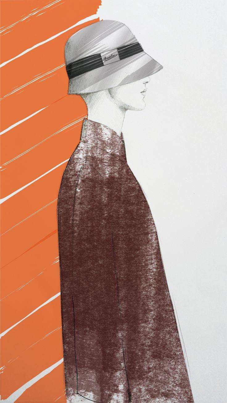 Borsalino Inspiration - Fashion Illustration by Beatrice Busco - Follow me on Instagram
