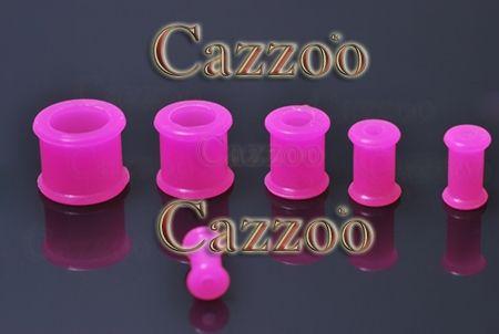 PL211 hot pink silikone Flexible Plug 4mm til 12mm stretch øreringe piercing Silikone plugs er fremstillet af silikone og derfor utroligt behageligt for ørerne