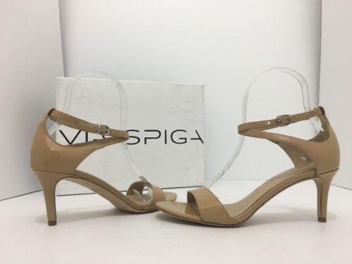 02261e65fc3 Via Spiga Leesa Nude Patent Leather Women s Heels Sandals Size US 6 M Via  Spiga Leesa