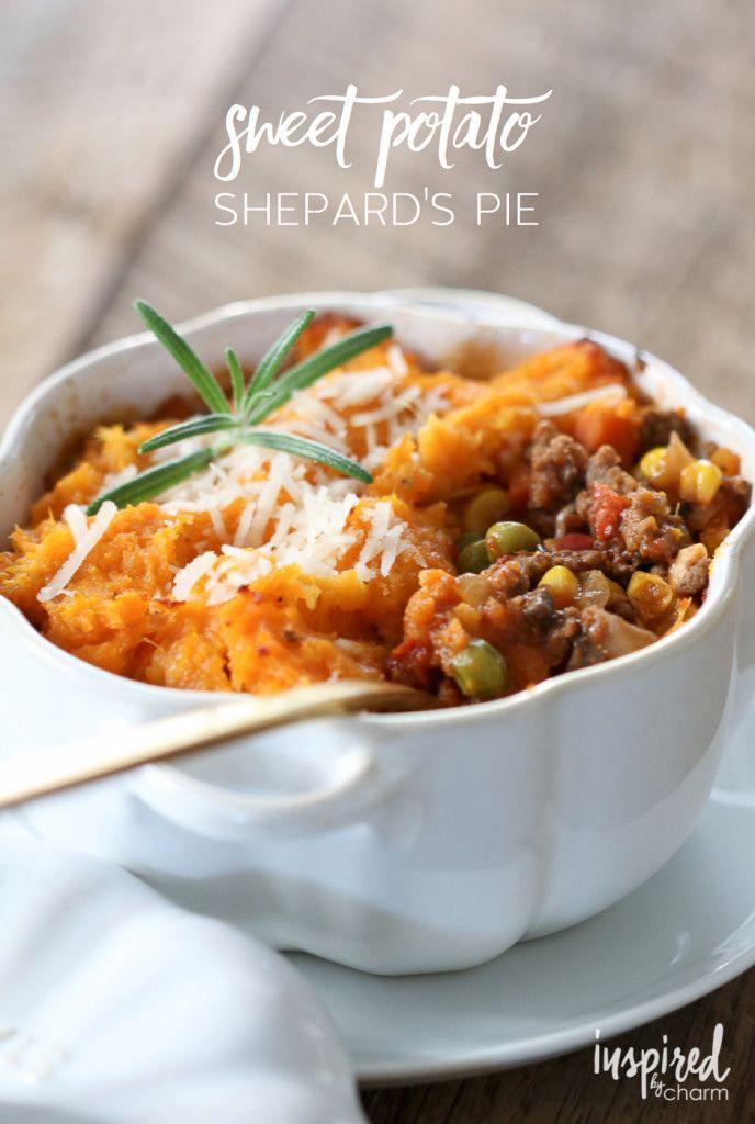 Sweet Potato Shepard's Pie | inspiredbycharm.com