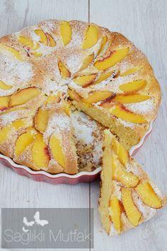 Yağsız Şeftalili Kek | Sağlıklı Mutfak