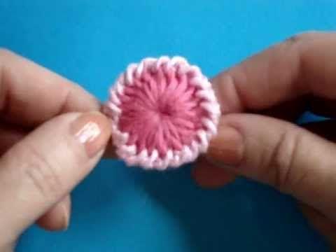 Вязание крючком - Урок 124 - Отделка пуговицы