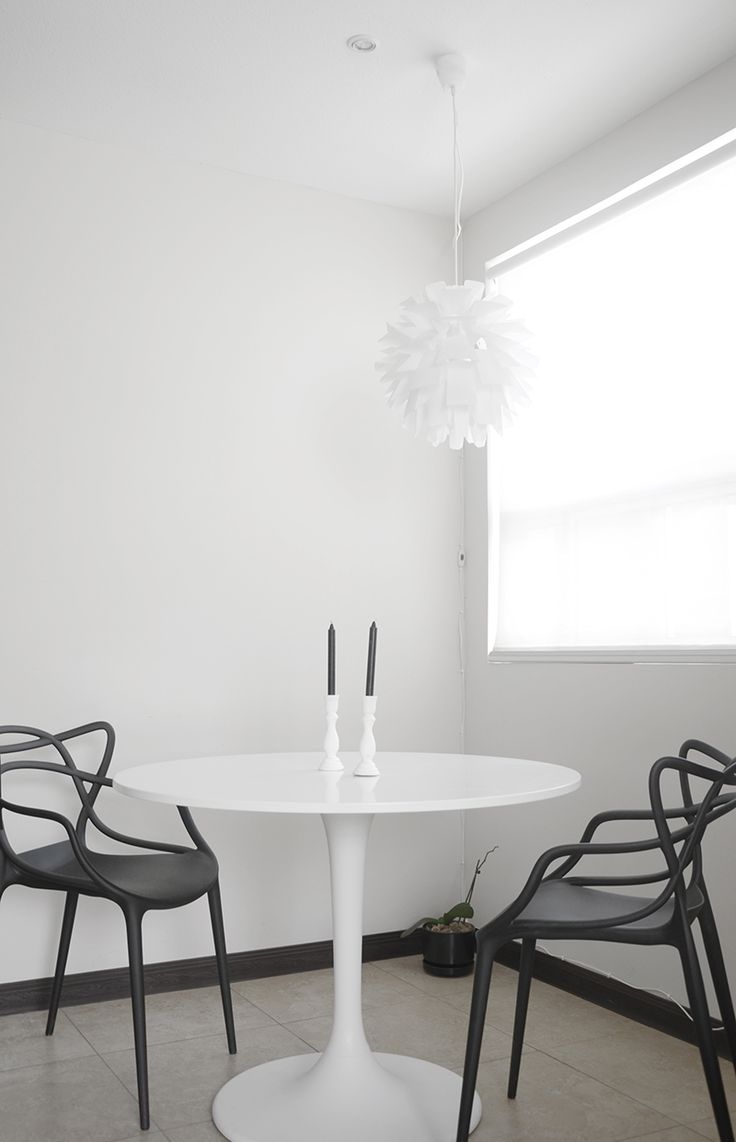 Kartell Masters Chair | Saarinen Table | Black And White | Dining Room △ |  Pinterest | Saarinen Table, Masters Chair And Tulip Table