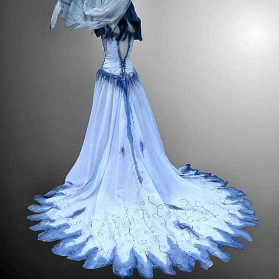 102 best images about corpse bride costume on pinterest for Blue gothic wedding dresses