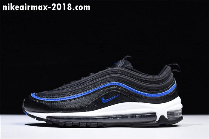 New Mens Sneakers Nike Air Max 97 Black White Blue Ar5531 001