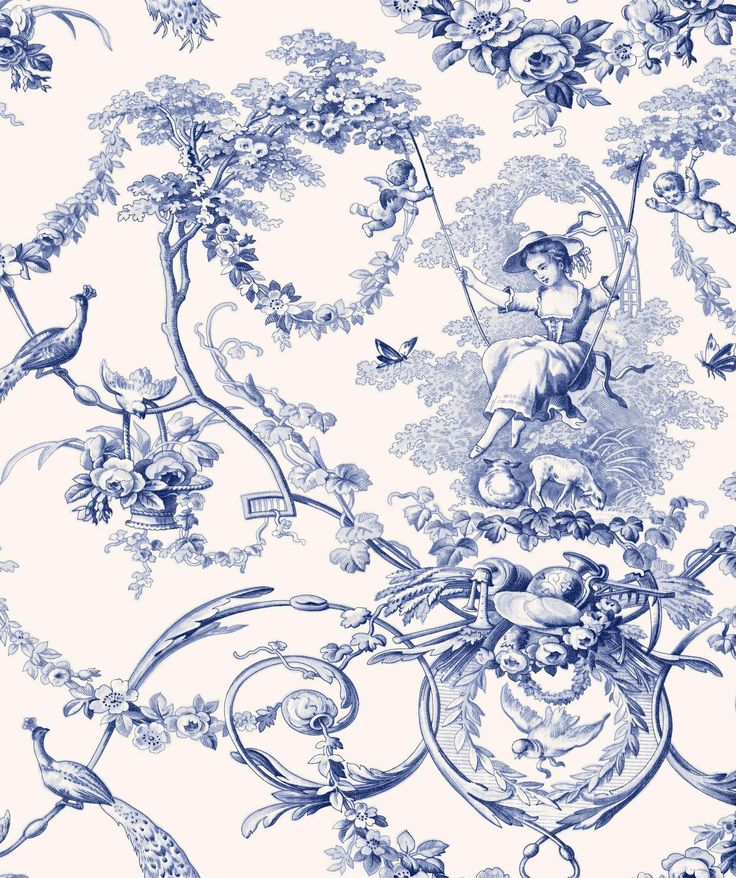 1000 ideas about toile de jouy on pinterest toile toile wallpaper and french fabric. Black Bedroom Furniture Sets. Home Design Ideas