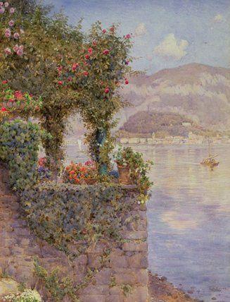 Bellagio de Tremezzo de Ernest Arthur Rowe (1863-1922, United Kingdom)