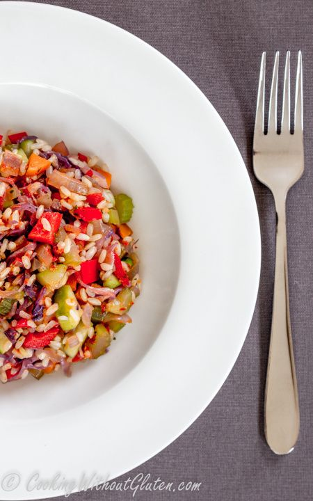 Gluten free brown rice with vegetables
