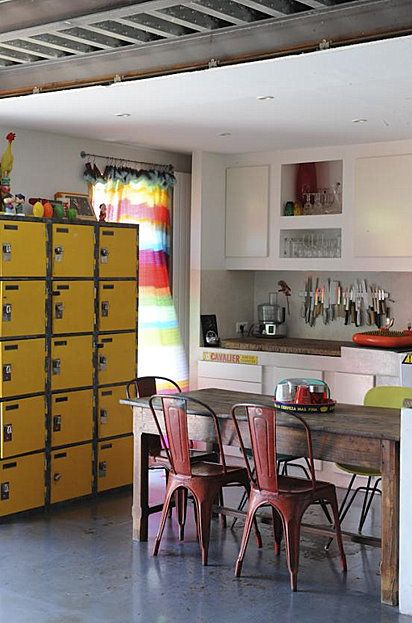 Ways to use vintage lockers in your home décor.