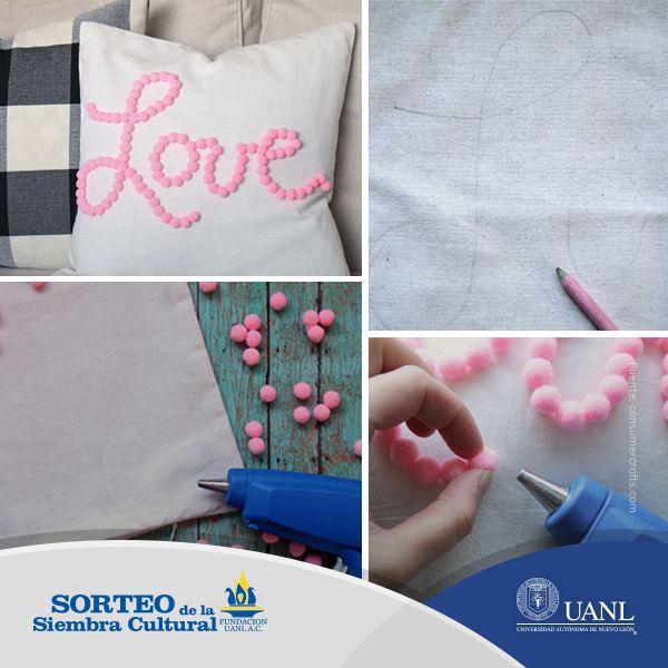 Dale un toque personal a tus cojines y crea tu propia decoración.