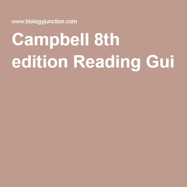 15 best ma ebook images on pinterest campbell biology ap biology campbell 8th edition reading gui fandeluxe Choice Image