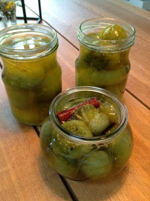 Evas Køkken: Syltede grønne tomater med vanilje
