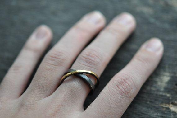 ORBITALS Ring  Minimalist Modern Statement Ring by OebelandTharpe