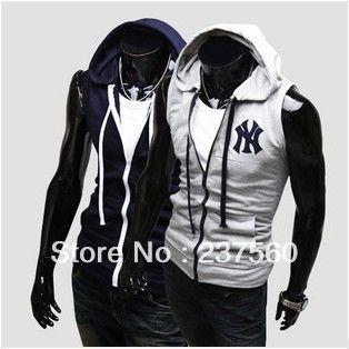 2013 winter mens Hitz mens hooded vest knitted vest fashion Slim men US $24.73