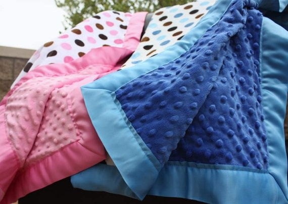 TWIN BOY Amp GIRL Baby Stroller Blankets Pink And Blue By