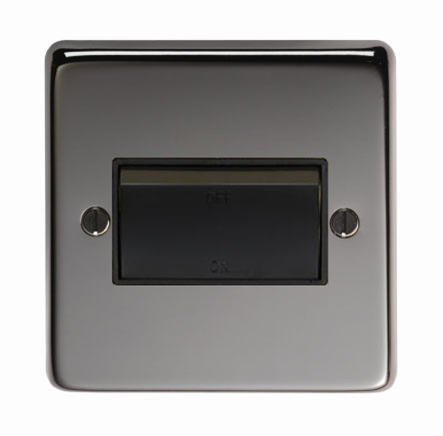 Black Nickel Fan Isolator Switch - This fan isolator switch is a high quality product, with a black nickel finish. The black nickel finish is elegant and beautifully highlights the texture of the steel.