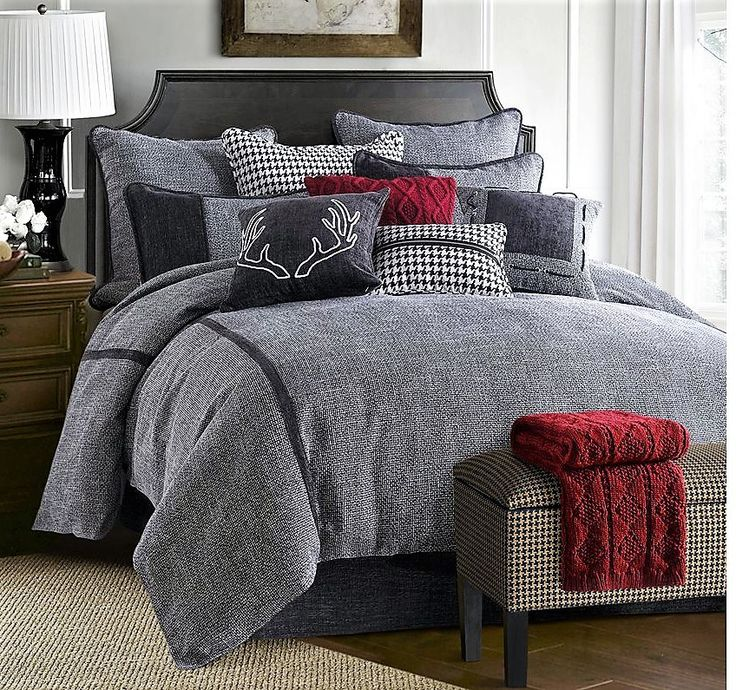 hamilton 4 piece comforter set by hiend accents drawing inspiration from the simplicity of industrial design the hamilton 4 piece comforter set by hiend