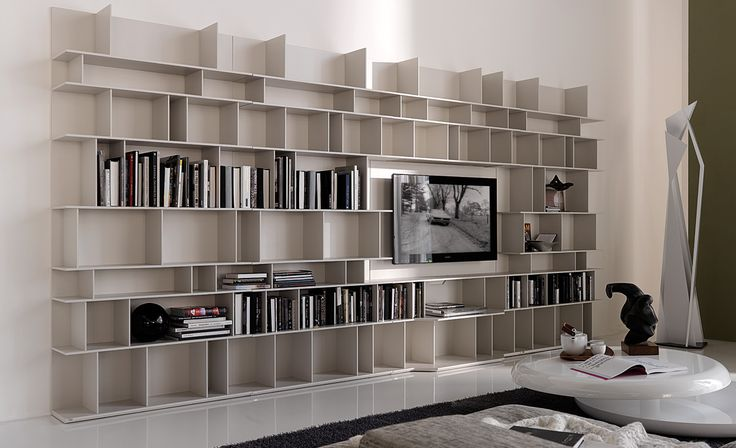 The Wally Modular bookcase is designed by Cattelan and is versatile in every sense. Available in multiple sizes and finishes, on wheels or floor standing, and can be comprised using any number of units to create your own custom modern look. TV brackets are available as well.